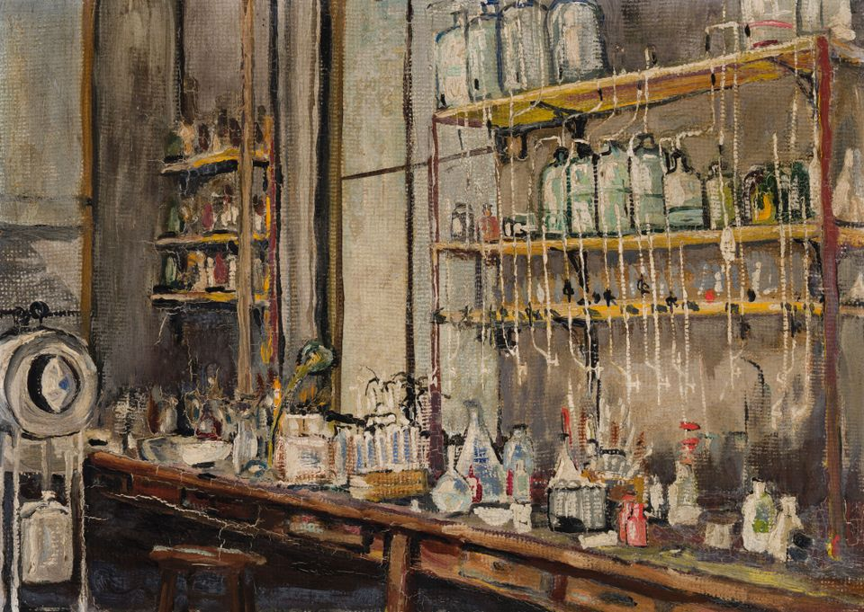 Nobel laureate Frederick Banting painted The Lab late on a winter's night in 1925 at the University of Toronto facility where he and Charles Best had discovered insulin just a few years prior