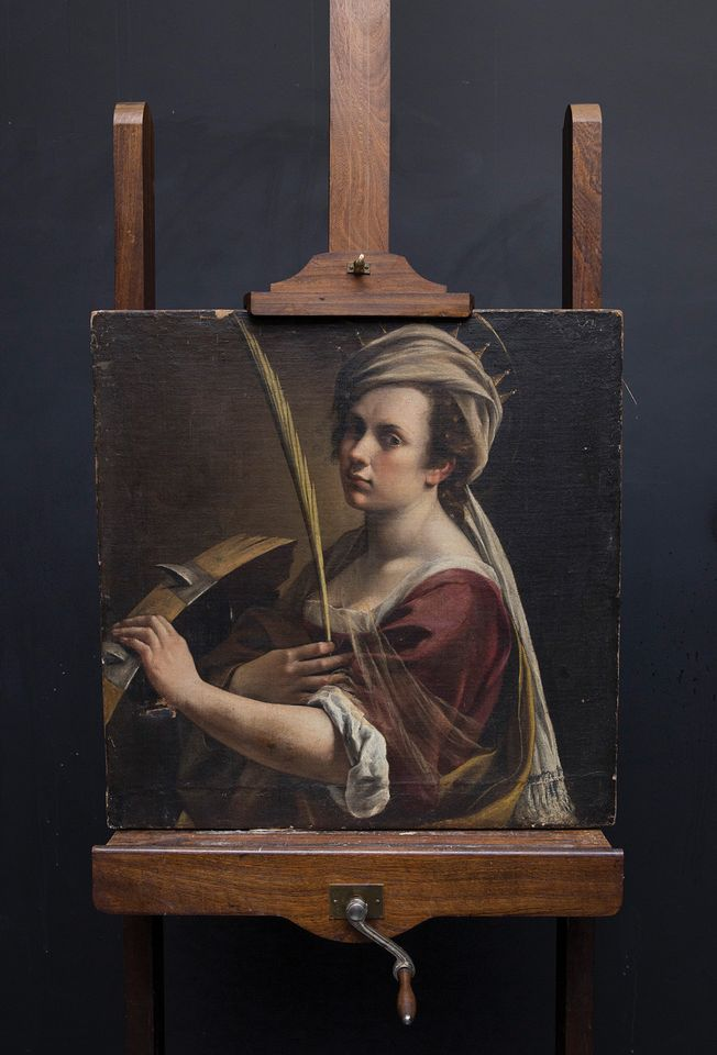 NATIONAL GALLERY, LONDON- Artemisia Gentileschi's self-portrait: The Italian Baroque painter Artemisia Gentileschi has been experiencing a renaissance of late, as her depictions of strong women have resonated with the #MeToo era. London's National Gallery paid a record £3.6m for the recently discovered Self-portrait as Saint Catherine of Alexandria (around 1615-17), mostly funded by its American Friends group. The work was sold by the London-based gallery Robilant + Voena, which bought it for €2.4m (with fees, against an estimate of €300,000-€400,000) at auction in Paris in December 2017. The painting is due to go on show at the National Gallery in early 2019 after conservation.