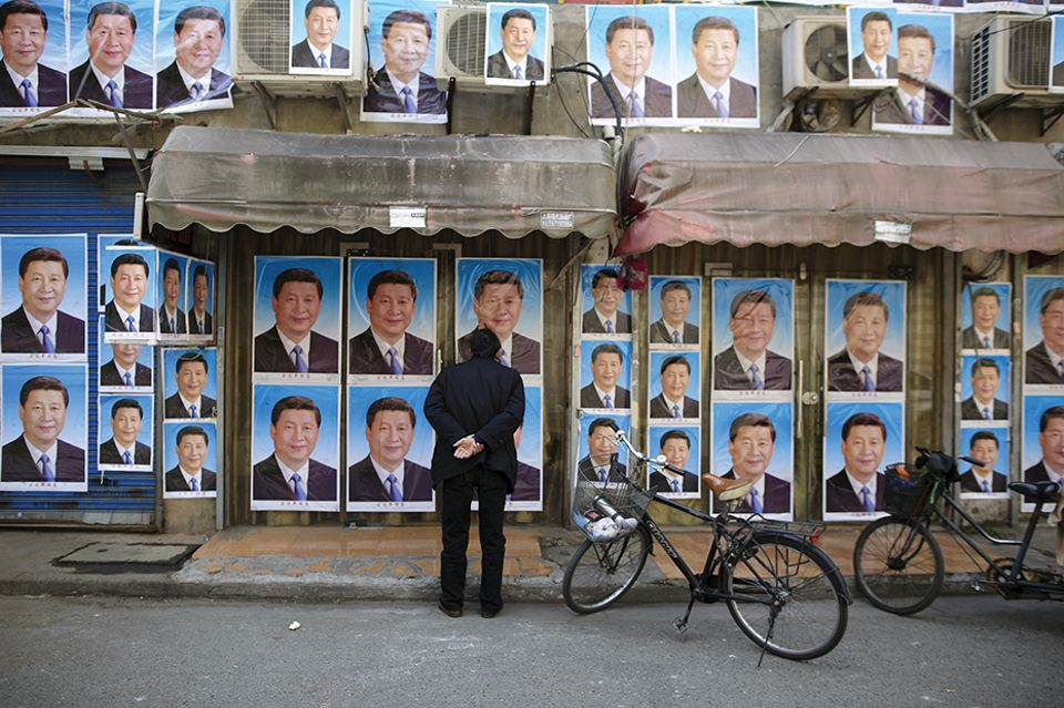 Poster boy: portraits of President Xi Jinping on the streets of Shanghai
