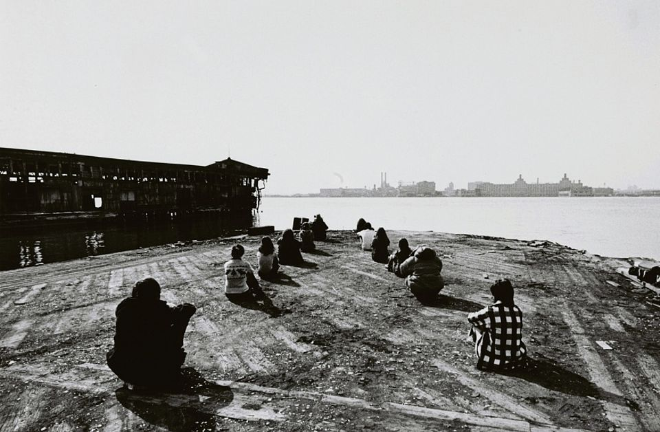 Robert Morris's 3 Configurations in anticipation of the Equinox Sunset from Pier 18 (1971)