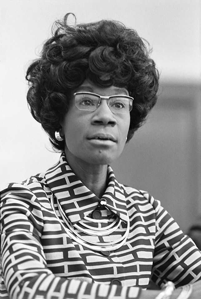 Shirley Chisholm announcing her candidacy for the US House of Representatives