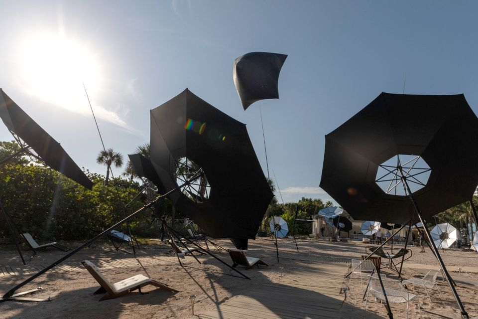 Tomás Saraceno's seafront commission