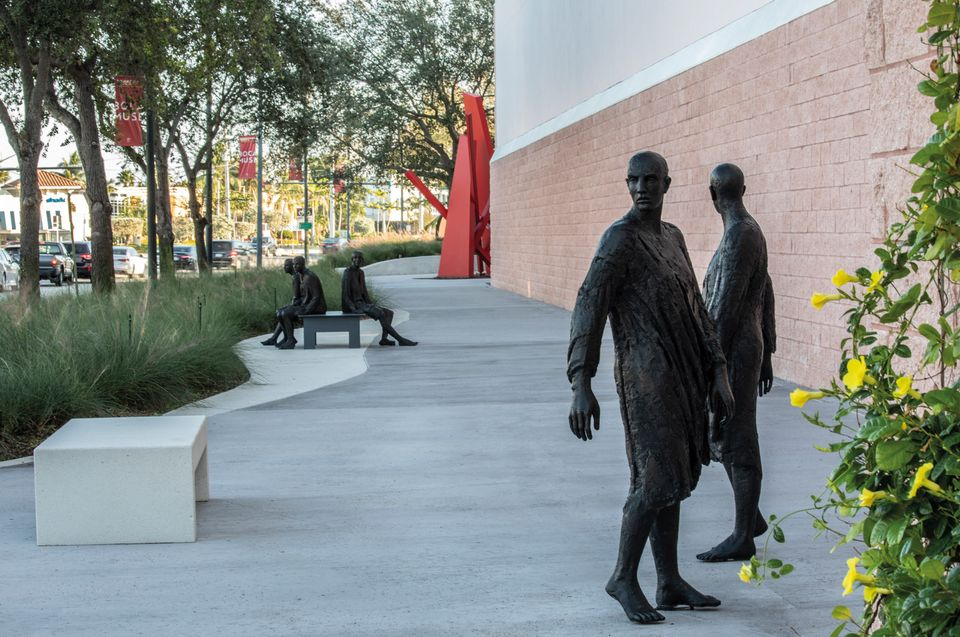 Boca Raton Museum of Art's new promenade with sculptures from the collection