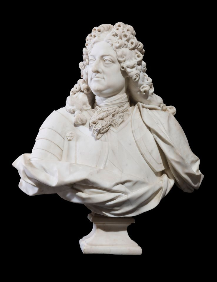 A bust by Jean-Louis Lemoyne of Philippe II, Duke of Orléans, whose collection is on show in New Orleans