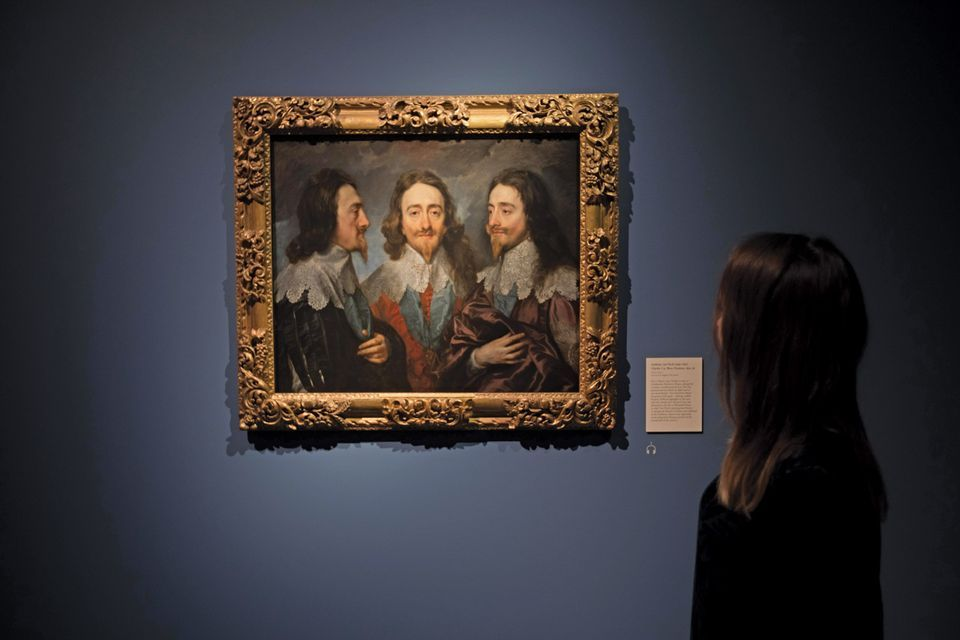 Van Dyck's Charles I (around 1635-36) was among a number of works by the king's favourite artist at London's Royal Academy of Arts