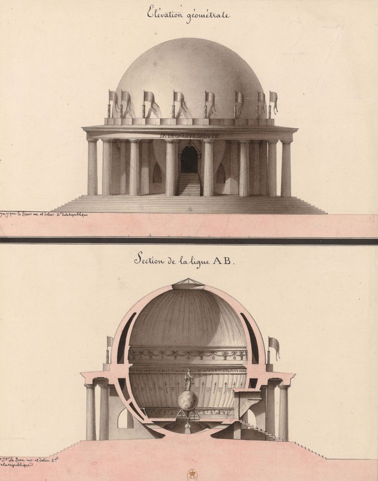 Jean-Jacques Lequeu's design for a temple of equality
