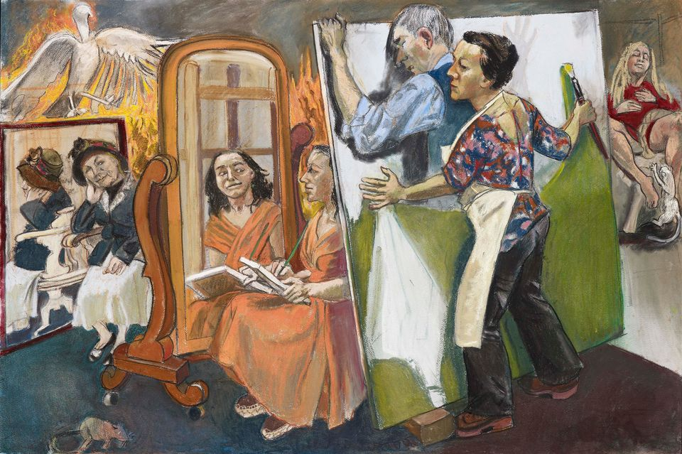 Paula Rego's Painting Him Out (2011)