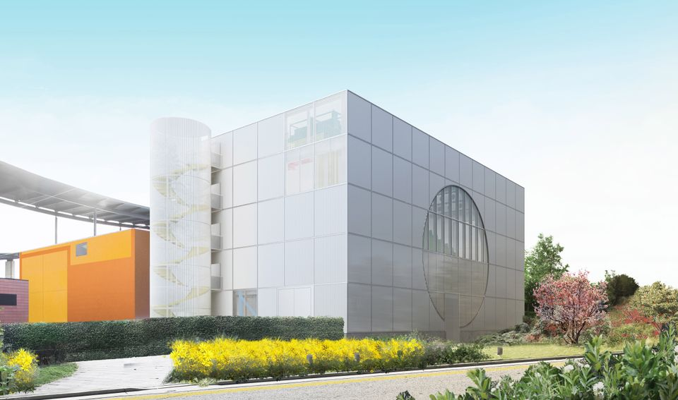 Rendering of the MK Gallery expansion, designed by 6a architects with Gareth Jones and Nils Norman