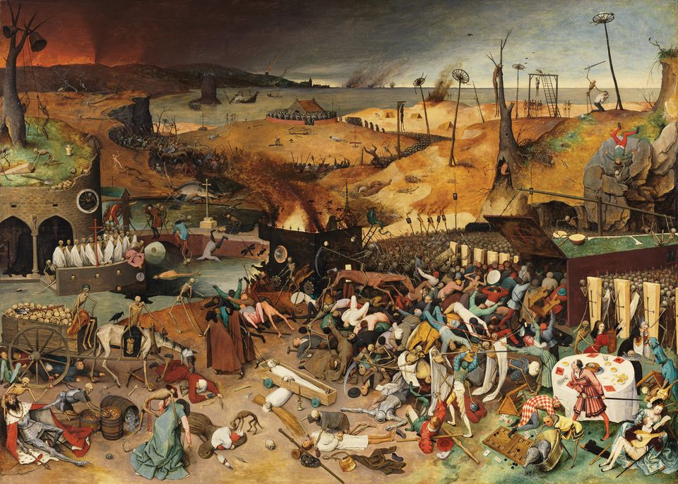 Pieter Bruegel the Elder's The Triumph of Death (1562-63) can be seen at the Kunsthistorisches Museum