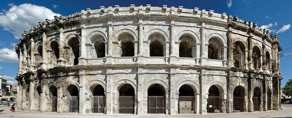 The Nîmes arena, where a restoration effort is expected to continue 15 more years