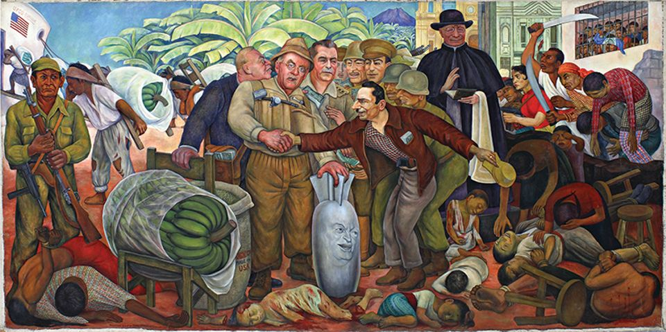 Diego Rivera's 4m-wide mural Glorious Victory (1954, top) languished in a store room at the Pushkin State Museum of Fine Arts in Moscow for around half a century. Frida Kahlo's The Wounded Table (1940) went missing in 1955, after going on show in Warsaw