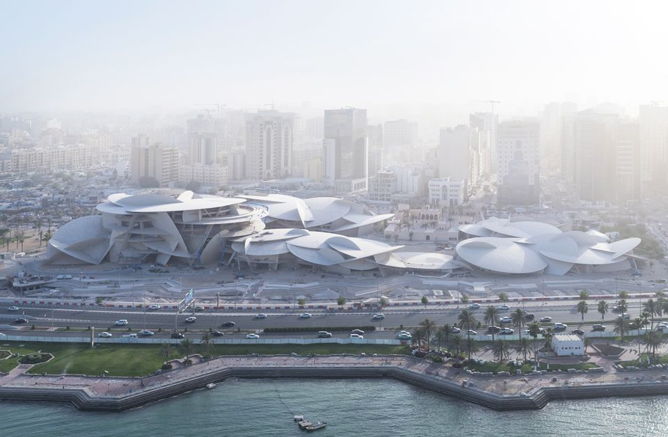 The National Museum of Qatar under construction
