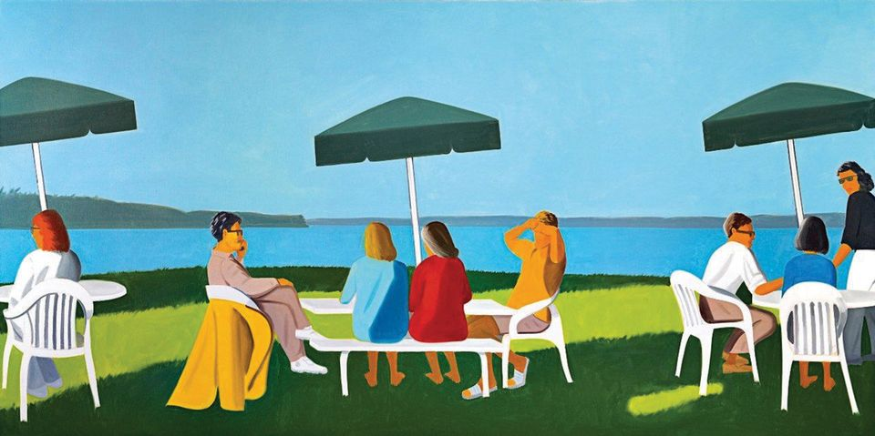 Alex Katz's Beach Stop (2001) will be one of the works from the Essl Collection in the refurbished Albertina Künstlerhaus