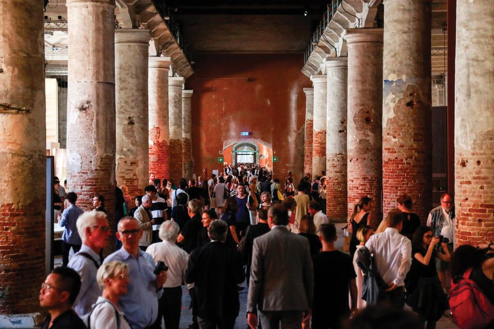 Crowds flock to the Arsenale for the Venice Biennale