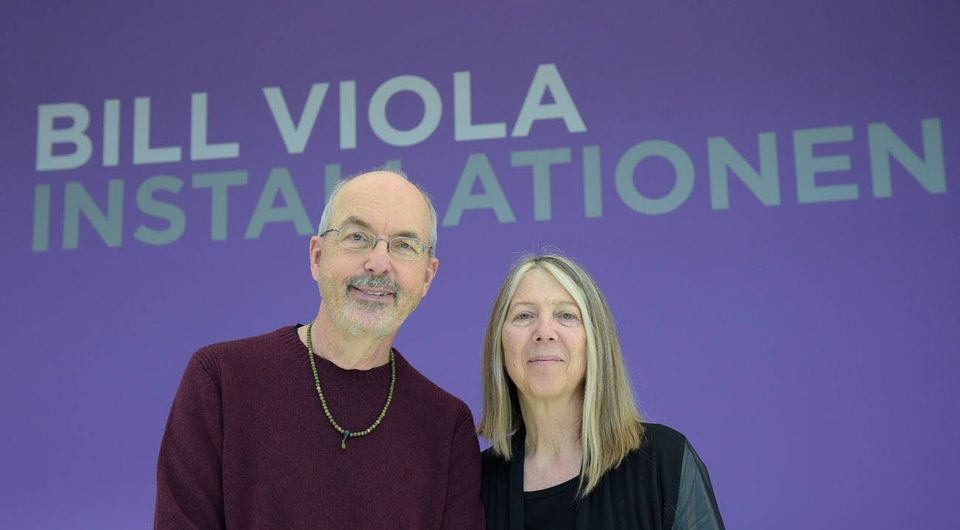 Viola with his wife and longstanding collaborator, Kira Perov