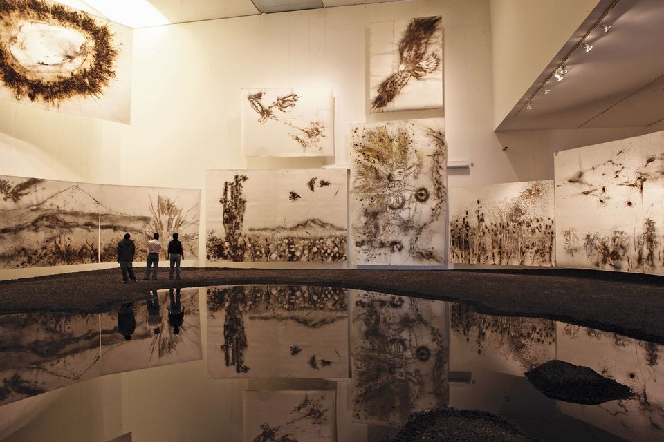 Cai Guo-Qiang's Sunshine and Solitude (2010), installed at the Museo Universitario Arte Contemporáneo in Mexico City