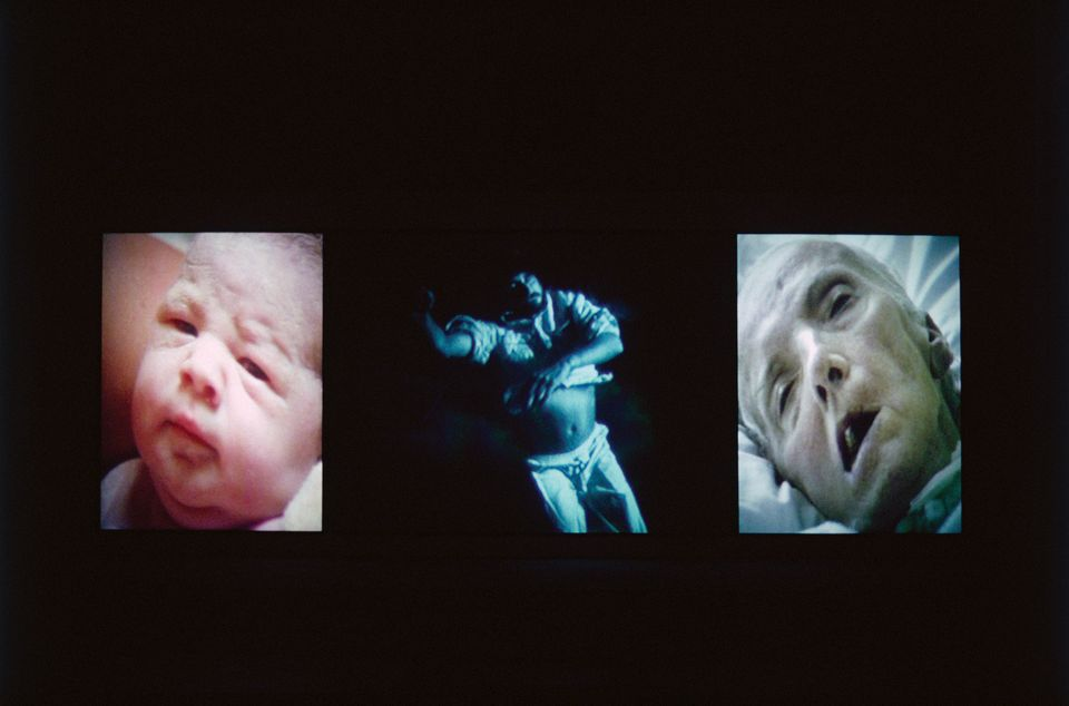 Bill Viola's video and sound installation Nantes Triptych (1992)