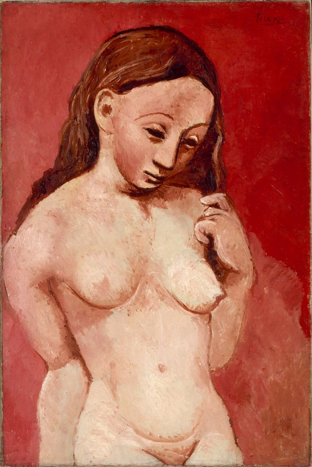 Picasso's Nude with a red background (1905-06)