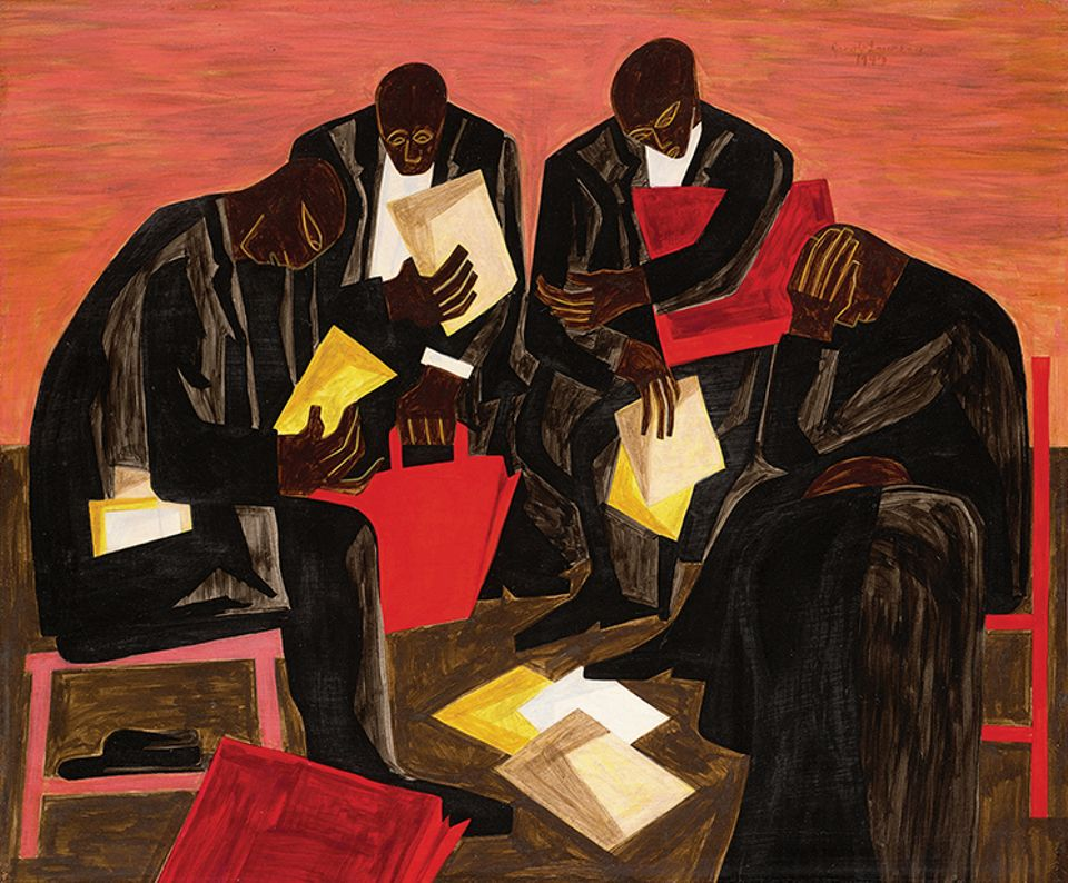 Jacob Lawrence's The Businessmen, (1947)