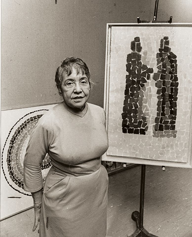 Alma Thomas's abstract paintings are among the works to have been forged.