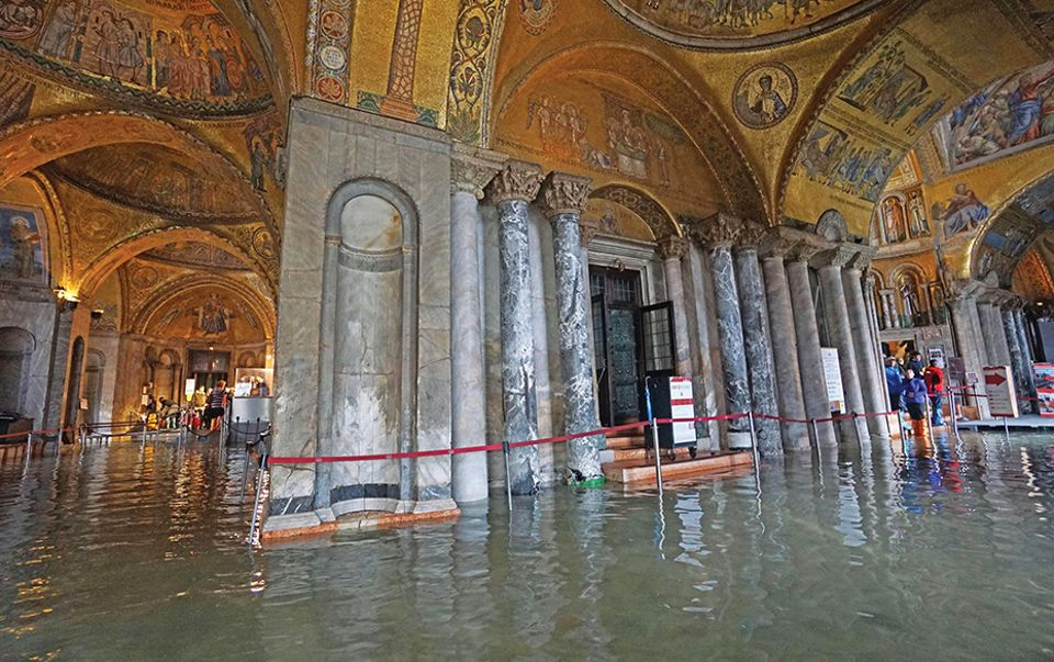 In October, water penetrated the main body of the church for only the fifth time in its history
