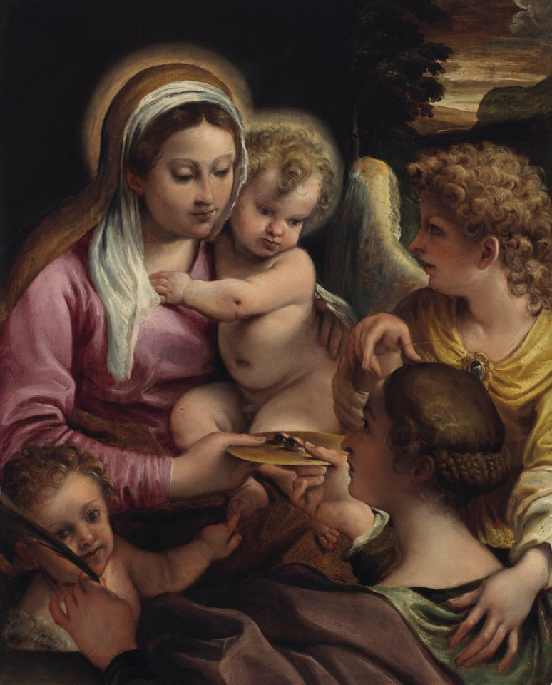 Carracci's Virgin and Child with Saint Lucy and the Young Saint John the Baptist was reattributed to the artist by Feigen.