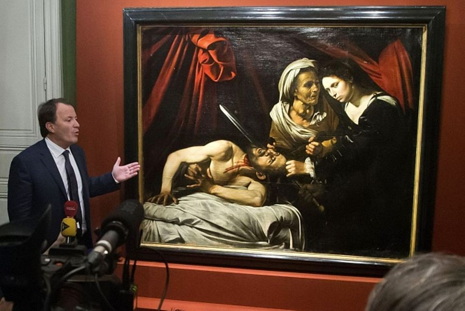The painting was thought to be another version of Caravaggio's work depicting Judith beheading Holofernes