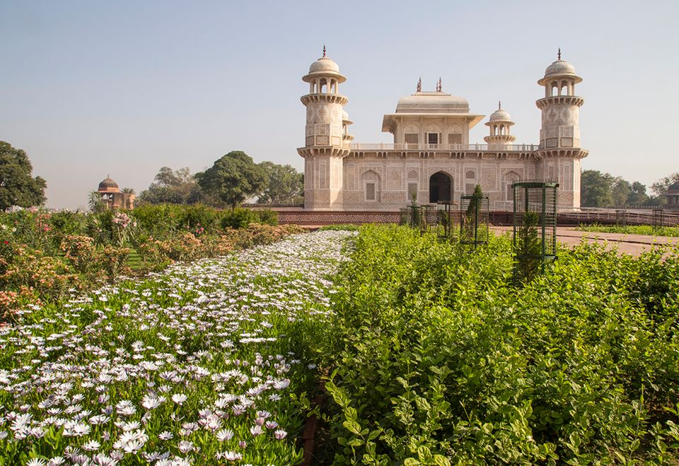 The newly restored Garden of the Tomb of I'timad-ud-Daulah