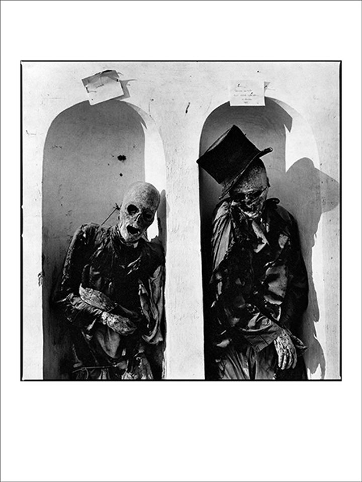 Jesse Fernandez's Mummies, Capuchin catacombs, Palermo, (1980). (S)itor, London Art Fair, 16-20 January. €5,000: At this year's London Art Fair, the Dialogues section will focus on the relationship between contemporary Latin American and European artists by juxtaposing six pairs of galleries. The Parisian gallery (S)itor will exhibit photographs by the Cuban-American artist, Jesse Fernandez (1925-1986), which depict British artists such as Francis Bacon and Alexander Calder, and actors including Elizabeth Taylor—images which will probably seem familiar, although you may not have heard of Fernandez. In his early years, he also photographed Cuban writers and artists, such as Wifredo Lam and Guillermo Cabrera Infante, then later in Sicilybecame fascinated by the eerie mummies of Palermo's catacombs.