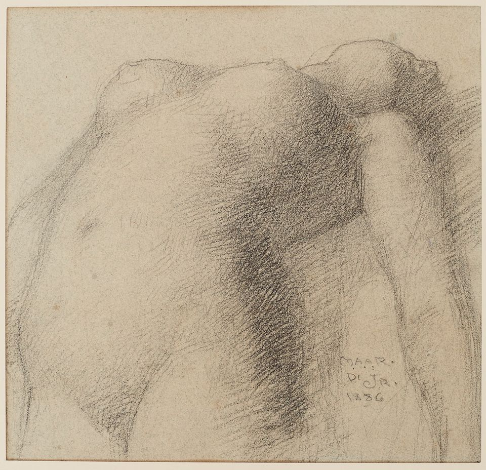 John Russell, Nude Study (about 1886), oil on canvas, 120cm by 92cm, Van Gogh Museum, Amsterdam (Vincent van Gogh Foundation)