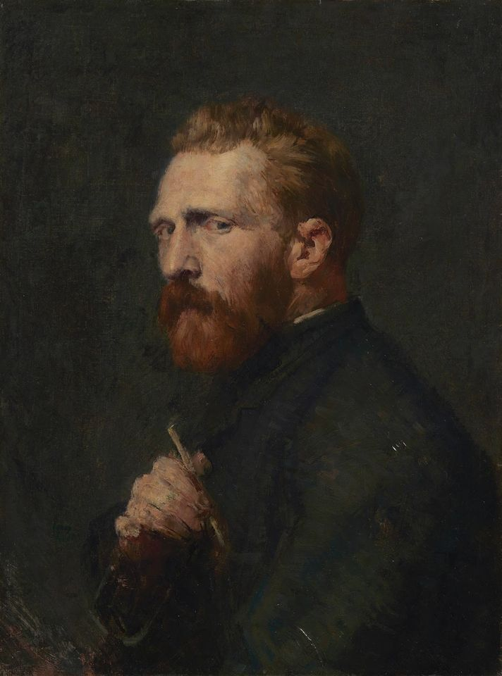 John Russell, Portrait of Van Gogh (November 1886), oil on canvas, 60cm by 46 cm, Van Gogh Museum, Amsterdam (Vincent van Gogh Foundation)