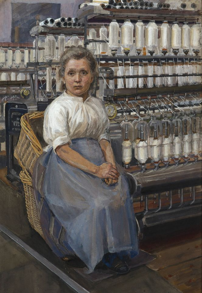Tate, London  Watercolours by Sylvia Pankhurst. The Tate has bought four watercolours by the suffragette Sylvia Pankhurst from her grandchildren, using funds from the Denise Coates Foundation. Depicting women labouring in potteries and mills, they are the first of her works to enter the collection. Pankhurst is best known today for her pivotal role in campaigning for British women's right to vote, but she initially trained as an artist. She painted these works in 1907 during a tour of industrial towns in Northern England and Scotland to document women's harsh working conditions. The paintings are due to go on display at Tate Britain in 2020.