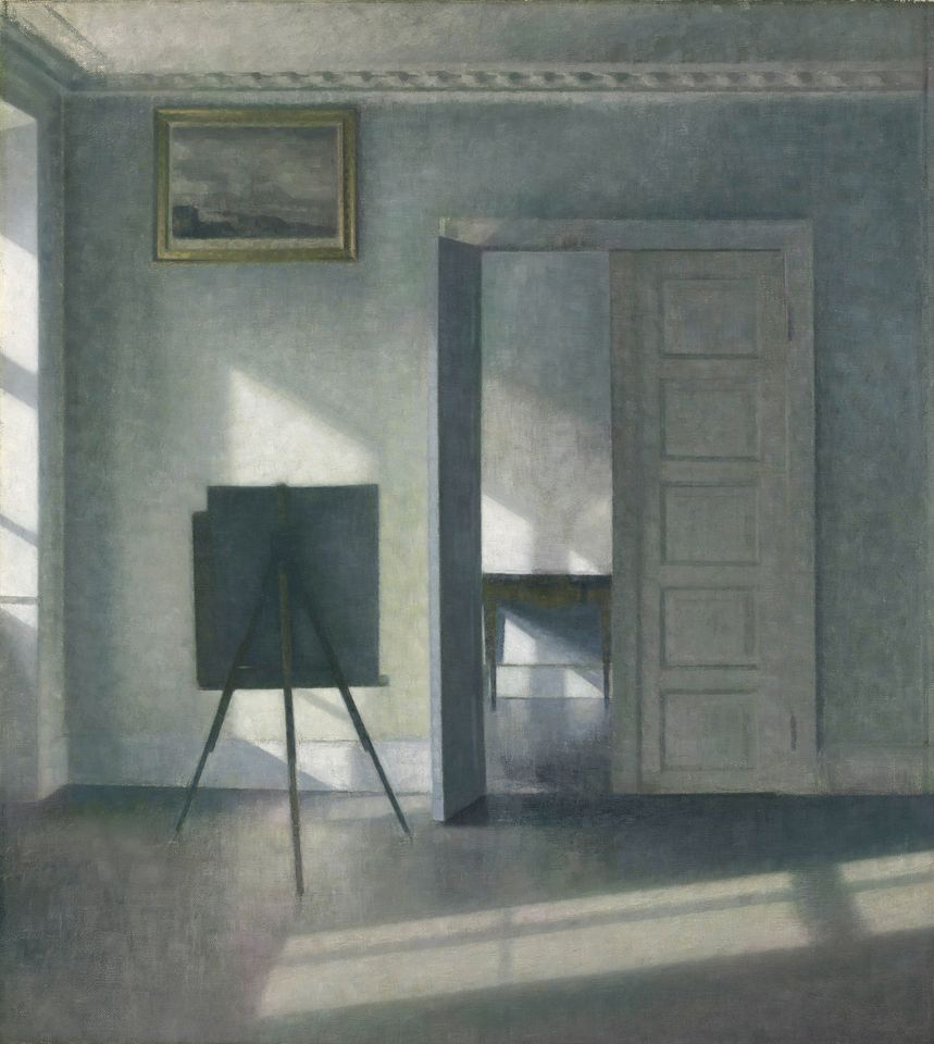 "J. Paul Getty Museum, Los Angeles Vilhelm Hammershøi's Interior with an Easel, Bredgade 25. The J. Paul Getty Museum has acquired Vilhelm Hammershøi's Interior with an Easel, Bredgade 25 (1912) from the New York dealer Jack Kilgore & Company. The museum declined to disclose a price, but the painting sold for more than $5m at Christie's in New York last October after residing in a private collection for decades. Described by Timothy Potts, the museum's director, as ""a painting about paintings"", it is a characteristically spare and meditative work by the Danish artist, executed at his house at Bredgarde 25 in Copenhagen. Hammershøi fell into obscurity after his death, but in recent decades his interiors have attracted a following and elicited comparisons with Whistler and Vermeer. The painting is on view at the Getty Center."