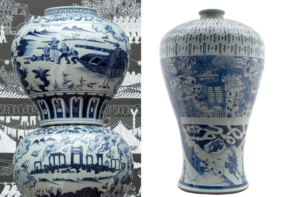 Ai Weiwei denies his porcelain works borrow from Lebanese artist's prize-winning vases