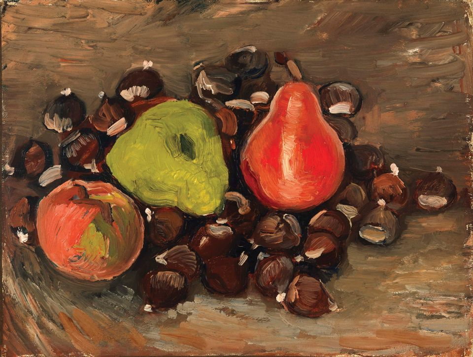 Vincent van Gogh's Still Life with Fruit and Chestnuts (1886)