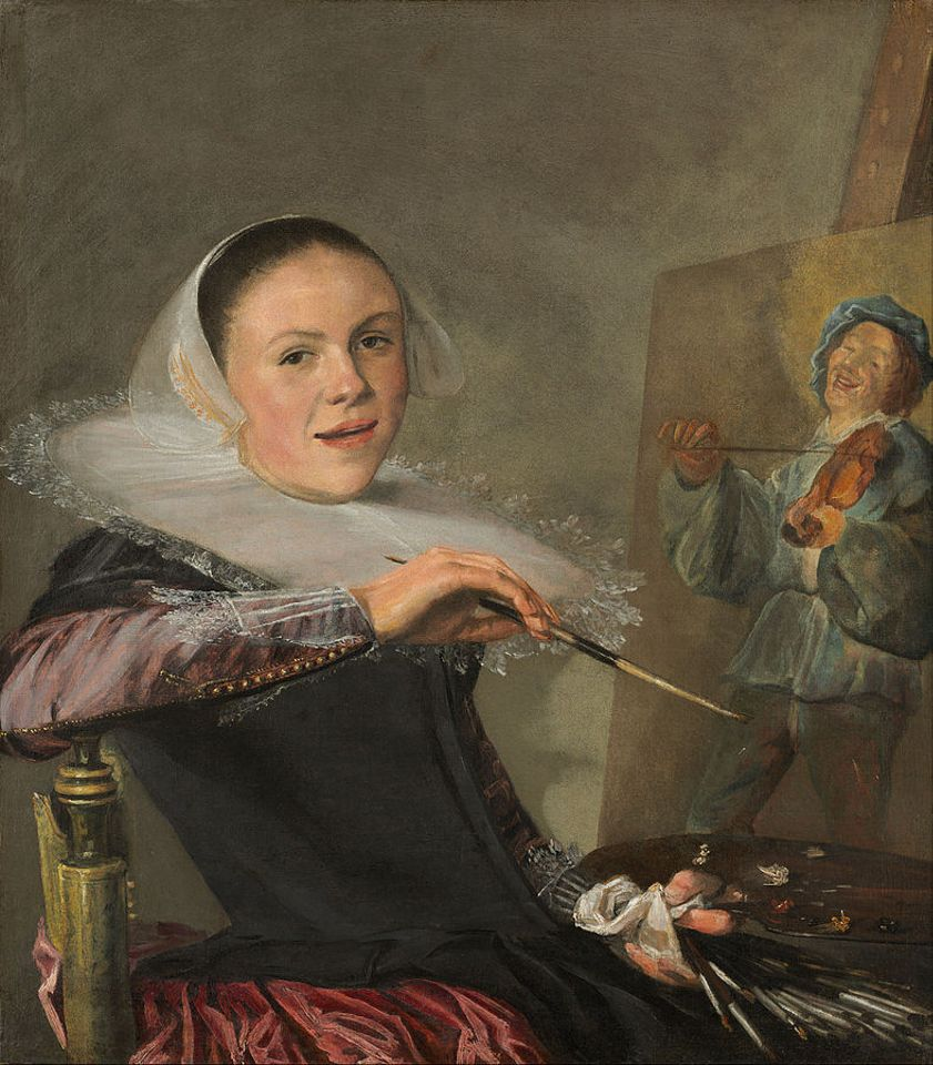 Judith Leyster's Self-portrait (around 1633), part of the collection at the National Gallery of Art, Washington, DC