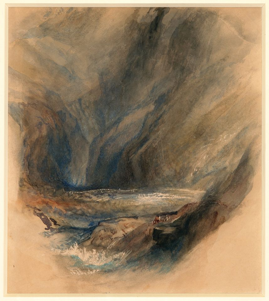 John Ruskin after J.M.W. Turner, Detail from the Pass to St Gotthard (1855)
