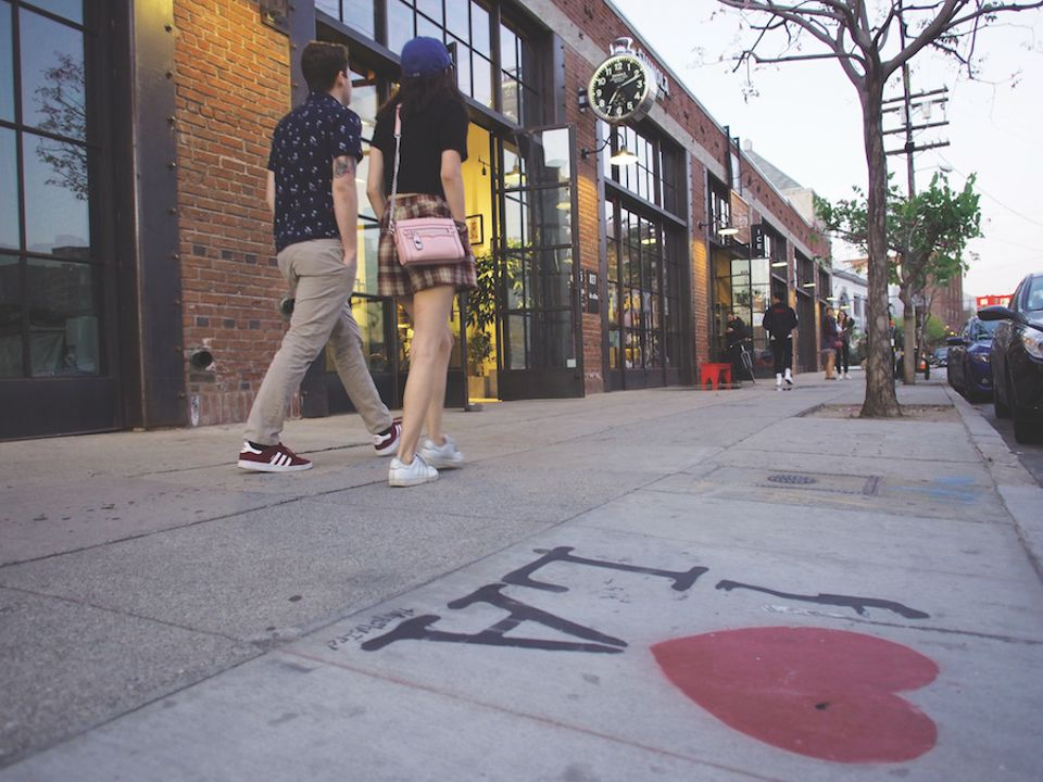 The burgeoning Arts District in downtown Los Angeles is one reason for optimism over Frieze LA
