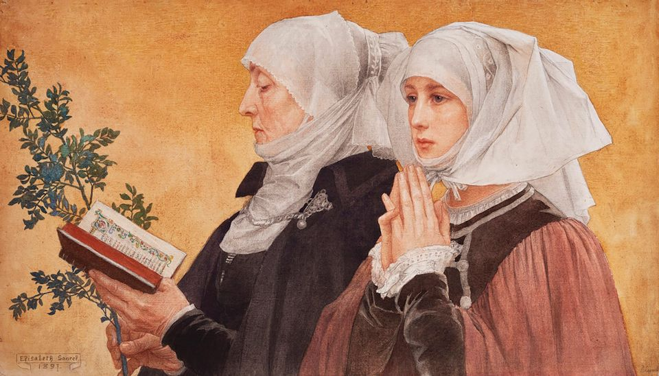 Elisabeth Sonrel, Les Rameaux (Palm Sunday, 1897). Mireille Mosler, Master Drawings New York, 26 January-2 February. Estimate–$100,000-$125,000: The Art Nouveau painter and illustrator Elisabeth Sonrel (1874-1953) was among the few women selected to hang her paintings in Paris's Salon in the 19th century. Sonrel, who studied at the École des Beaux-Arts, desired to be known as more than a mere illustrator of stationery, posters and books, and in 1897 her wish was granted when Les Rameaux (Palm Sunday) was included in the Salon. This watercolour, of the same composition, will be shown for the first time in the US by Mireille Mosler during Master Drawings New York