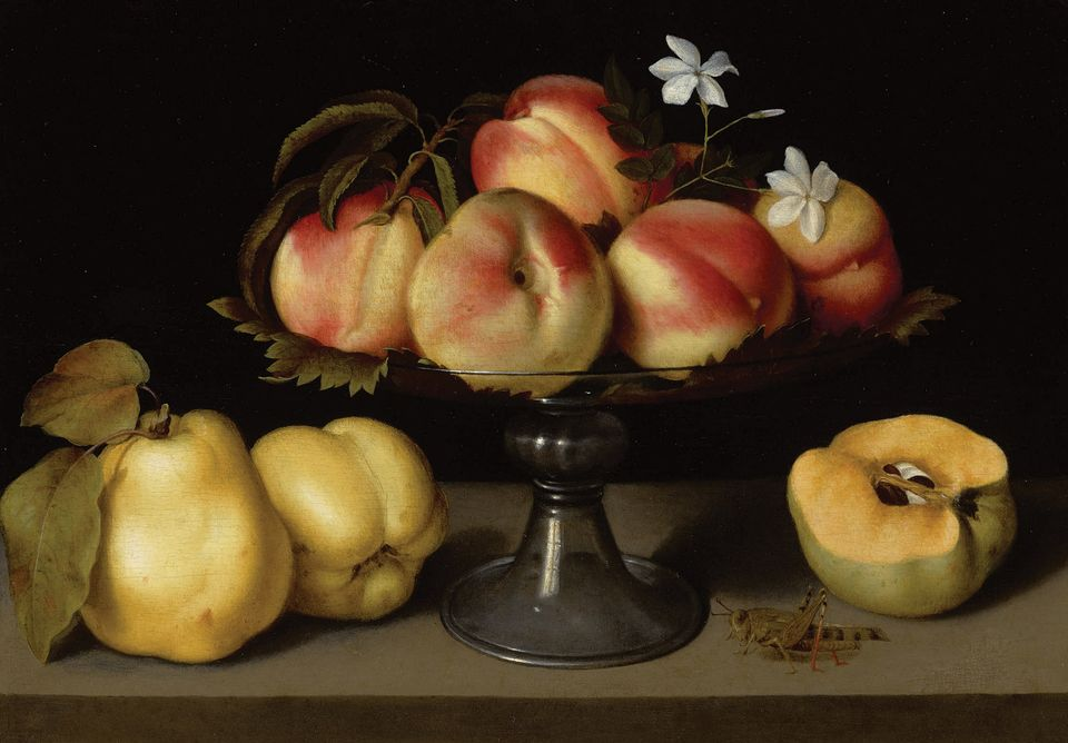 """Fede Galizia, A glass compote with peaches, jasmine flowers, quinces and a grasshopper (early 17th century). Master Paintings Evening Sale, Sotheby's, New York, 30 January. Estimate $2m-$3m: This crystalline still-life by the Milanese artist Fede Galizia (1578-1630) is among a cluster of works in this sale by female artists of the 16th to 19th centuries that also includes Artemisia Gentileschi, Elisabeth Louise Vigée Le Brun and others. Although righting a historical wrong in terms of the near-total oversite of female artists before the 20th century, Sotheby's is certainly jumping onto a trend here—or, as Calvine Harvey, Sotheby's Old Master paintings specialist in New York, says: """"Embracing this momentum [of interest] in female artists, both inthe marketplace and academia."""" Galizia was trained by her father, the miniaturist Nunzio Galizia, and is best-known for her hyperrealistic still-life paintings. This work was shown at TheMetropolitan Museum of Art in 2004 and last surfaced on the market in 2006, when Christie's New York sold it for $1.64m  (est $500,000-$700,000)."""