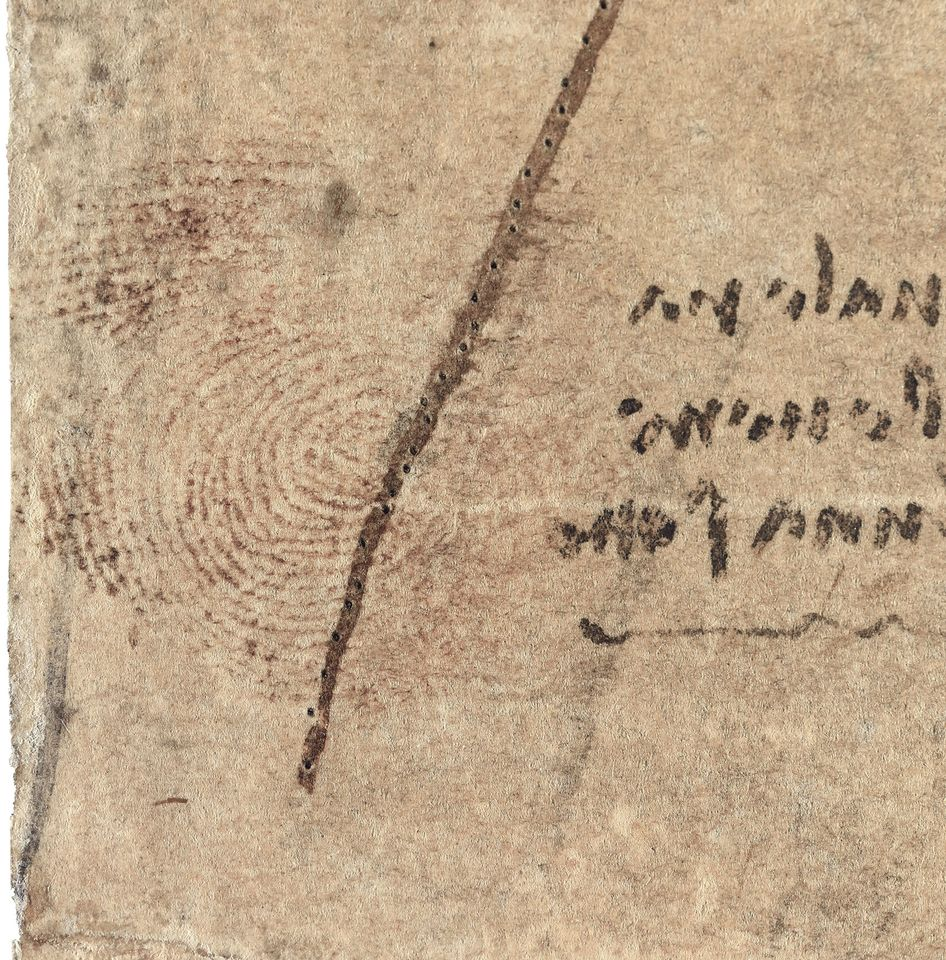 A close-up of the thumbprint