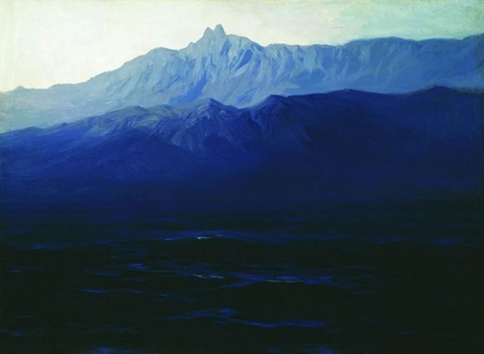 Arkhip Kuindzhi's Ai-Petri. Crimea (1898-1908) was taken off the wall at the State Tretyakov Gallery in Moscow