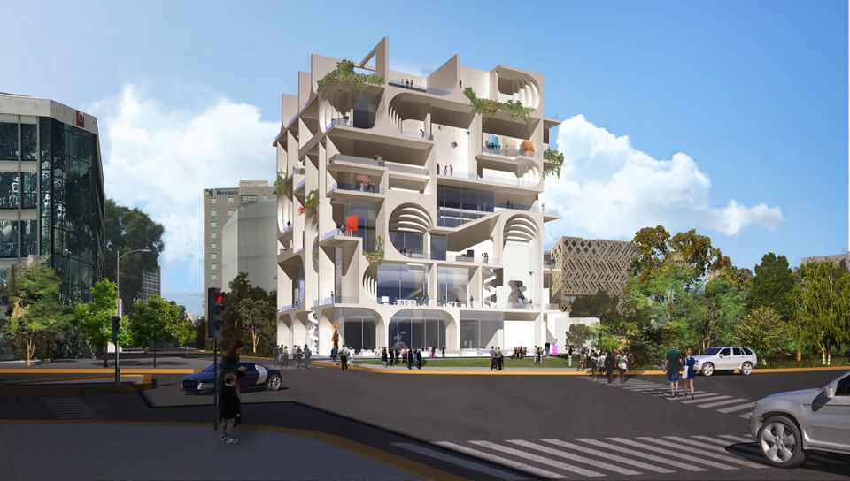 The Beirut Museum of Art, designed by the architecture firm WORKac