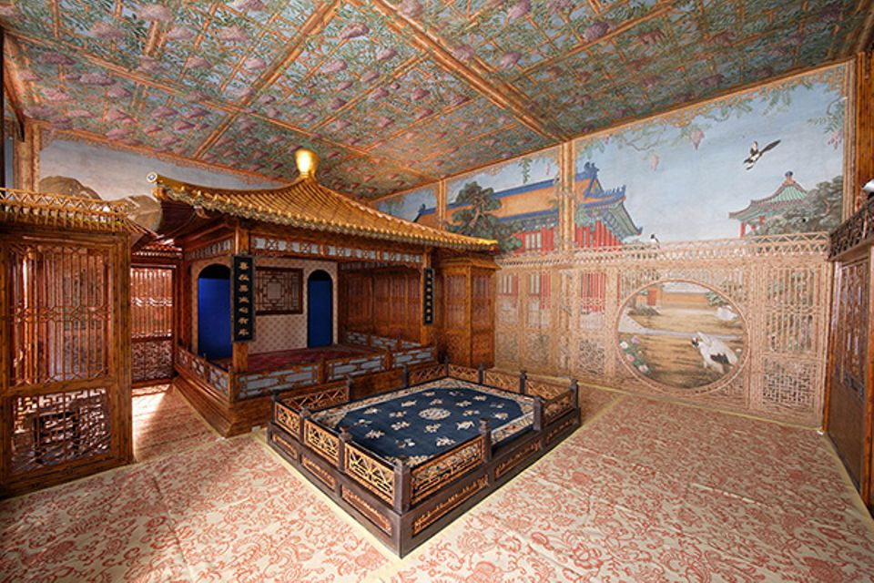 The theater room in the Studio of Exhaustion From Diligent Service at Qianlong Garden in Beijing