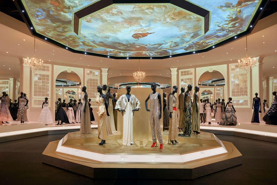 Installation view of the Christian Dior: Designer of Dreams exhibition at the Victoria and Albert Museum
