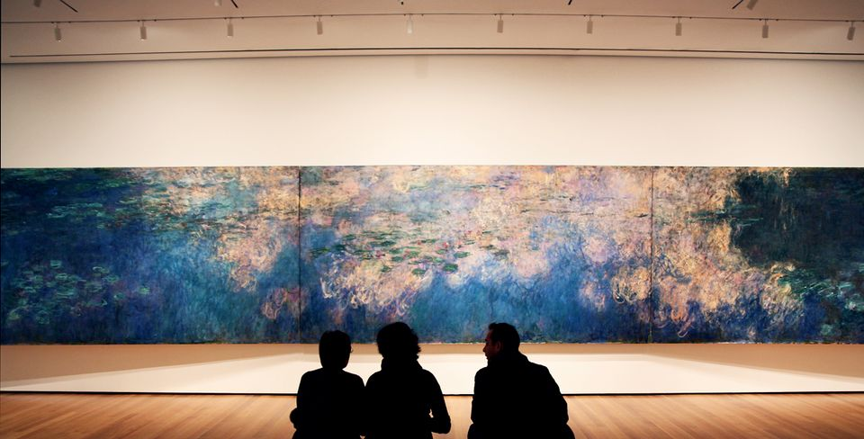 Claude Monet's Water Lilies (1914-26) at the Museum of Modern Art