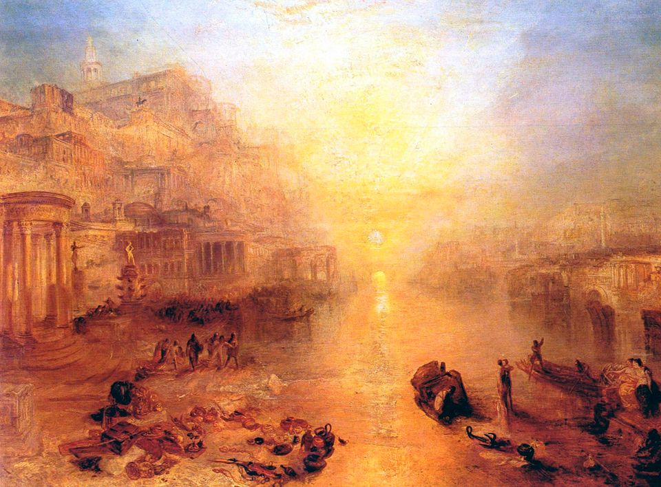 J.M.W Turner's Ancient Italy — Ovid Banished From Rome (1838)