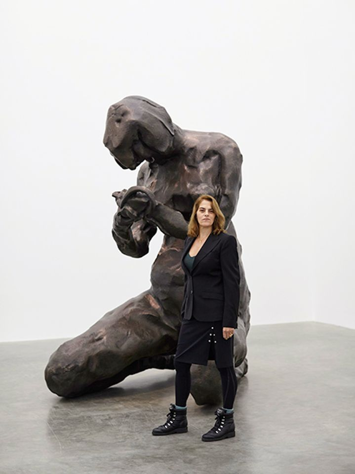 Tracey Emin in front of Mother