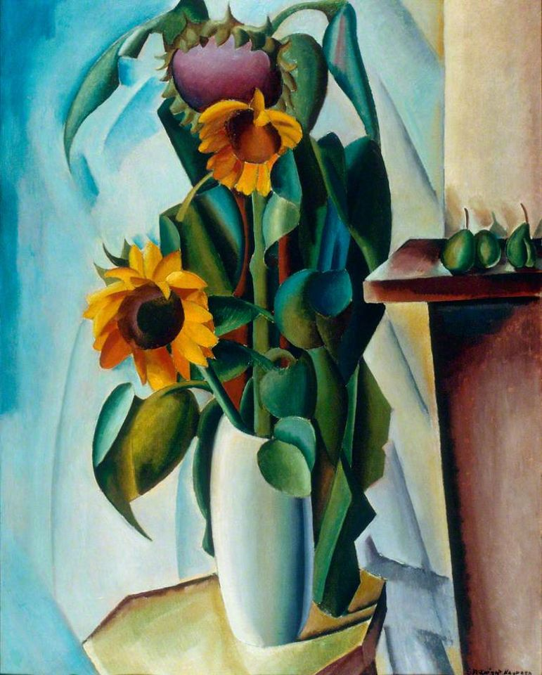 Edward McKnight Kauffer, Sunflowers, 1917, UK Government Art Collection