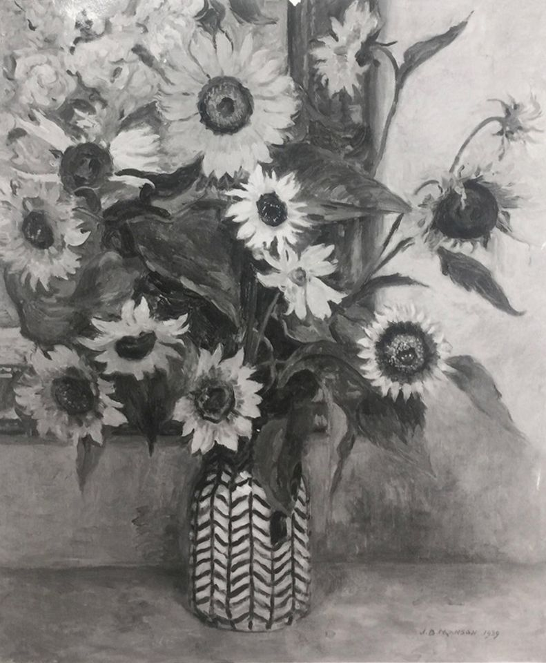 James Boliver Manson, Sunflowers, 1939, private collection
